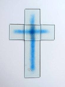 Dekorácie - Sklenený kríž - 9931226_