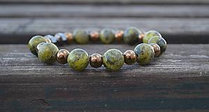 Šperky - Howlit a hematit s činkou náramok - 9930035_