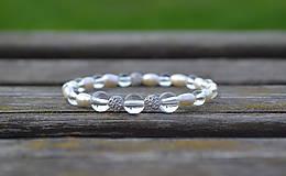 Náramky - Riečne perly, krištáľ a Ag 925 náramok - 9930551_