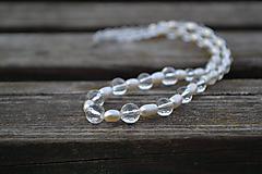 Náhrdelníky - Riečne perly a krištáľ náhrdelník Ag 925 - 9930562_