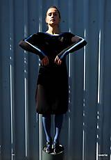 Šaty - JORY-šaty se sukní staženou šňůrkami - 9929376_
