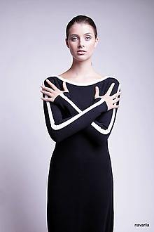 Šaty - JORY-šaty se sukní staženou šňůrkami - 9929381_