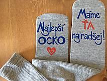 Maľované ponožky pre najlepšieho ocka/mamku (na sivých ponožkách)
