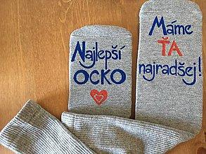 Obuv - Maľované ponožky pre najlepšieho ocka/mamku (na sivých ponožkách) - 9930242_