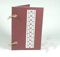 Papiernictvo - Vôňa fialiek - folk vyšívané leporelo - 9930255_