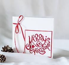 Papiernictvo - Merry Christmas - vianočný pozdrav - 9931201_