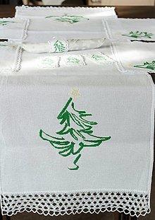 Úžitkový textil - Zasnežené údolie - vyšívané prestieranie - 9931275_