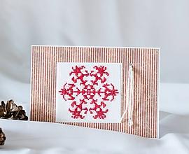 Papiernictvo - Šťastná vločka pre námorníkov (aj so záchranným lanom) - vianočný pozdrav - 9931290_
