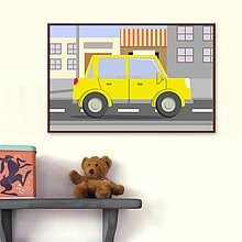 Detské doplnky - Autá v meste - digitálna grafika - 9930041_