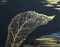 Obrazy - Leaf gold - 9933841_