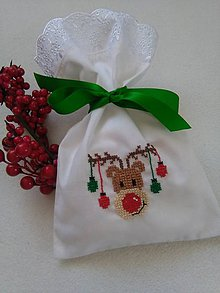 Úžitkový textil - Aj ja prídem (vianočné vrecúško) - 9932826_