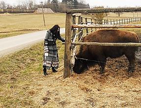 Kabáty - leloš tyrkysovo hnedý-patchwork - 9934298_