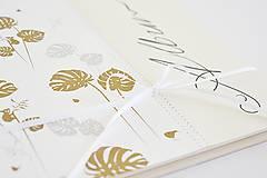 Papiernictvo - Malý album - Monstery zlaté 20x20 - 9934303_