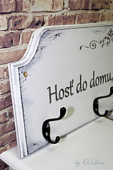 Nábytok - Vešiak shabby chic - Hosť do domu BOH do domu - 9933907_