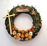 - Veniec na hrob prírodný s krížikom - 9931896_