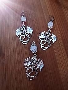 Sady šperkov - Dračia sila - náušnice a prívesok - 9931668_