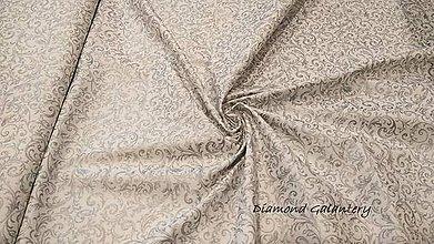 1958c553880c Textil - Bavlnená látka -ornament strieborný - cena za 10 cm - 9933314