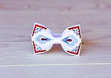 Doplnky - Pánsky vyšívaný motýlik v rôznych farbách - 9934054_