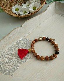Náramky - Náramok z drevených korálok Bodhi - 9933479_