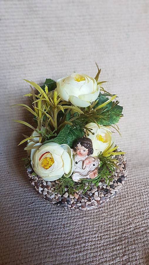 f3ce97914 Ikebana s anjelom na hrob / gerberis - SAShE.sk - Handmade Dekorácie