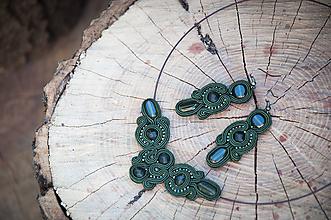 Sady šperkov - Khaki Kara - šujtášový set - 9933034_