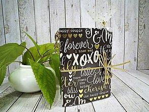 Papiernictvo - Love zápisník, svadobný plánovač - 9932642_