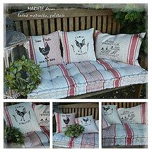 Úžitkový textil - Lněná matračka, povlaky COTTAGE HOUSE - 9931675_