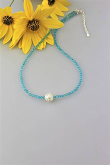 Náhrdelníky - Topaz náhrdelník v striebre - 9934108_