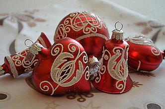 Dekorácie - Folklórne vianoce v červenom - 9933283_