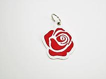 Kľúčenky - Prívesok ruža-rôzne - 9933985_