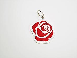 Kľúčenky - Prívesok ruža-rôzne (Veľká červená) - 9933979_