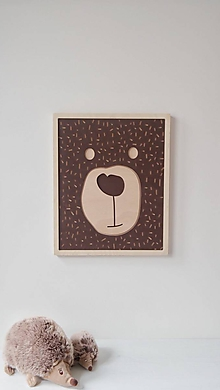 Dekorácie - drevený obraz Maco - 9934190_