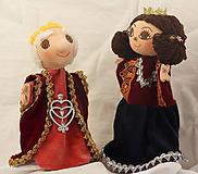 Hračky - Maňuška. Bábika Kráľ a kráľovna. - 9931966_