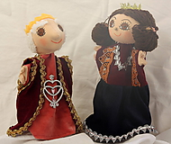 Hračky - Maňuška. Bábika Kráľ a kráľovna. - 9931971_