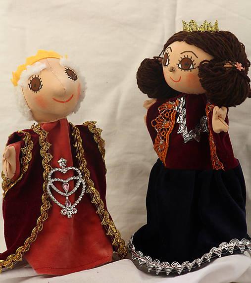 Maňuška. Bábika Kráľ a kráľovna.