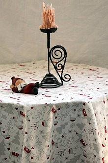 Úžitkový textil - Obrus. Vianoce. Zimný, adventný, vianočný klasický obrus. - 9933910_