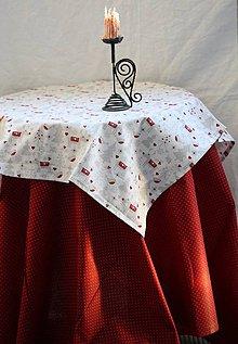 Úžitkový textil - Obrus. Vianoce. Súprava obrus a menší stredový obrus - 9933968_