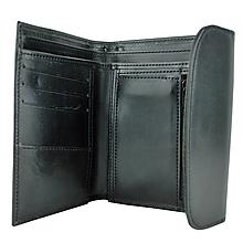 Peňaženky - Kožená dámska peňaženka z pravej kože, čierna - 9931653_