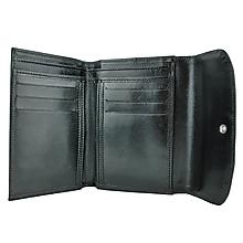 Peňaženky - Dámska kožená peňaženka z pravej kože, čierna - 9931758_