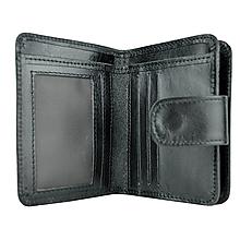 Peňaženky - Dámska malá kožená peňaženka s bohatou výbavou, čierna farba - 9933267_