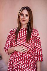Tehotenské oblečenie - Tehotenské šaty DENIM BELLY - 9934694_