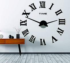 Hodiny - Nástenné hodiny nalepovacie MAXI PLEXI - rímske čísla 12P031 (Oranžová) - 9932426_