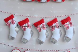 Dekorácie - Vianočné ponožky - 9933854_