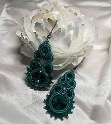 Náušnice - Smaragdové náušnice - 9933332_