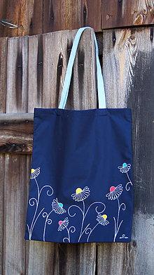Nákupné tašky - Plátená taška ručne maľovaná- farebná lúka - 9932555_