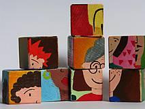 Hračky - Drevené kocky - tváričky - 9931427_