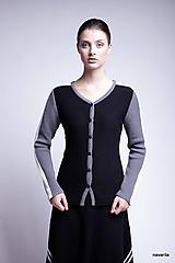 LORD-pletený kabátek s pruhy na rukávech