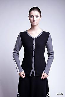 Svetre/Pulóvre - LORD-pletený kabátek s pruhy na rukávech - 9931989_