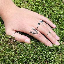 Prstene - strieborný prsteň CUTE WILDNESS - parohy - 9931475_