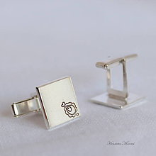 Šperky - Manžetové gombíky s Goralským folklórnym vzorom - 9931511_
